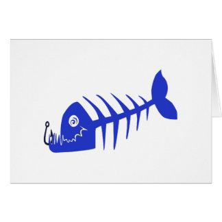 Bad Fish Blue Skull Card