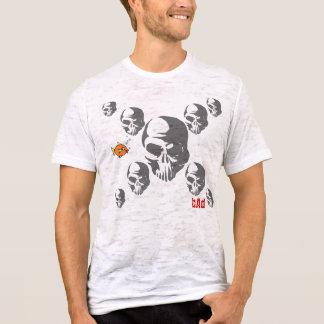 bAd Fish Skull Mens burn out T-Shirt