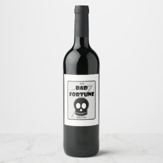 Bad Fortune custom wine bottle labels