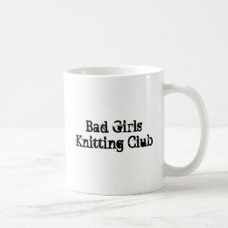 Bad Girls Knitting Club Basic White Mug