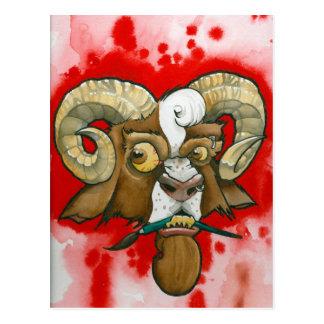 """""""Bad Goat!"""" Postcard"""