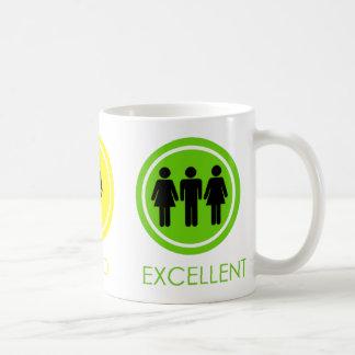 Bad Good Excellent Coffee Mug