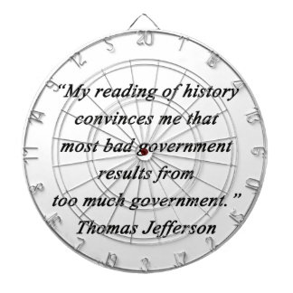 Bad Government - Thomas Jefferson Dartboard