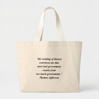 Bad Government - Thomas Jefferson Large Tote Bag