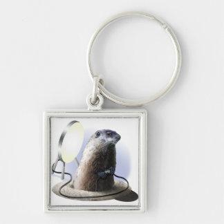 Bad Groundhog Key Ring