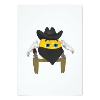 Bad Guy Cowboy 3 13 Cm X 18 Cm Invitation Card