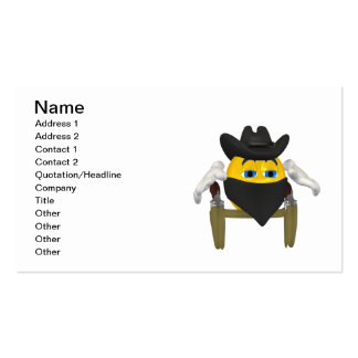 Bad Guy Cowboy 3 Business Card Template