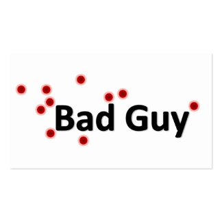 Bad Guy Pack Of Standard Business Cards