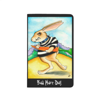 Bad hair day funny rabbit journals