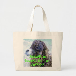Bad hair day! jumbo tote bag