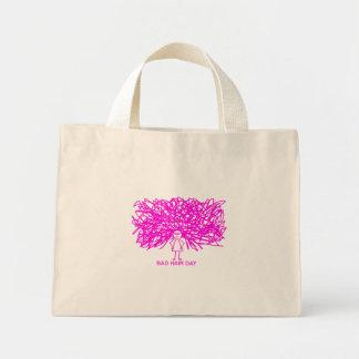 Bad hair day (PINK) Mini Tote Bag