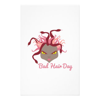 Bad Hair Day Custom Stationery