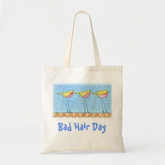 Bad Hair Day Tote Canvas Bags