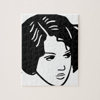 Bad Hair Day Woman Jigsaw Puzzle