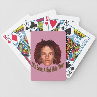 Bad Hair Shirt Bicycle Playing Cards