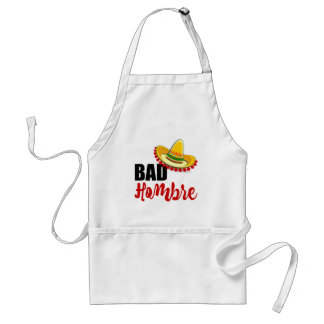 Bad Hombre Colorful Sombrero Standard Apron