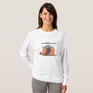 """""""Bad Luck Middle Seat Sloth"""" Long Sleeve T-Shirt"""