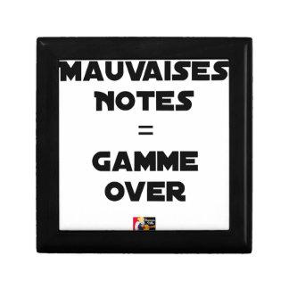 BAD MARKS = RANGE OVER - Word games Gift Box