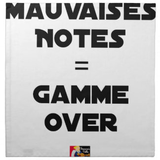 BAD MARKS = RANGE OVER - Word games Napkin
