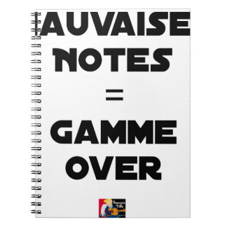 BAD MARKS = RANGE OVER - Word games Notebooks