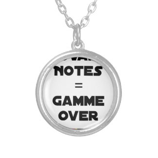 BAD MARKS = RANGE OVER - Word games Silver Plated Necklace