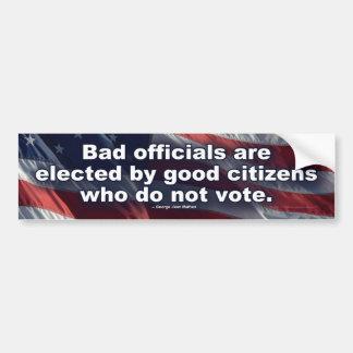 Bad Officials Bumper Sticker