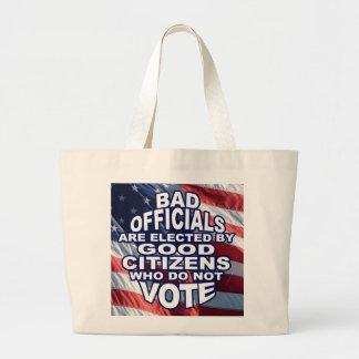Bad Officials Large Tote Bag