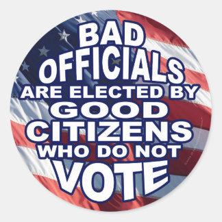 Bad Officials Round Sticker