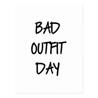 Bad Outfit Day Postcard