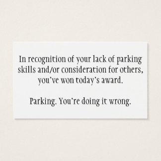 Bad parking cards