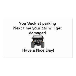 bad parking pack of standard business cards