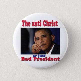 bad pres 6 cm round badge