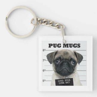 bad pug key ring