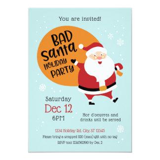 Bad Santa Holiday Party Invitation