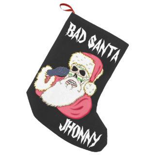Bad Santa Skull Small Christmas Stocking
