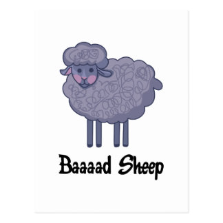 BAD SHEEP POSTCARD