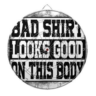 Bad shirt looks good on this body dartboard