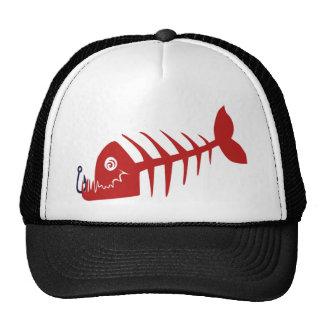 Bad Skull Fish Network Cap