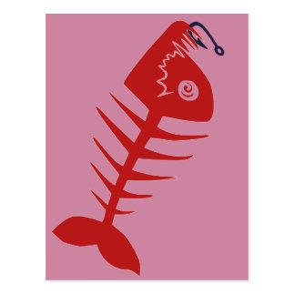 Bad Skull Fish Network Postcard