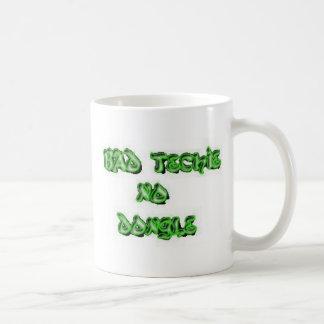 bad techie no dongle basic white mug