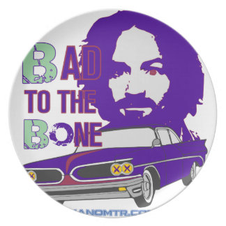 bad to the bone 2 dinner plate
