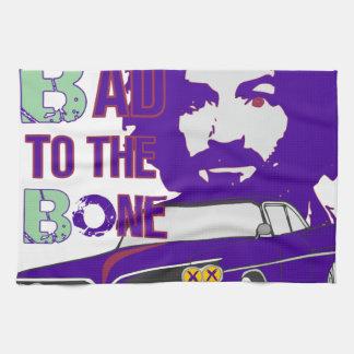 bad to the bone 2 tea towel