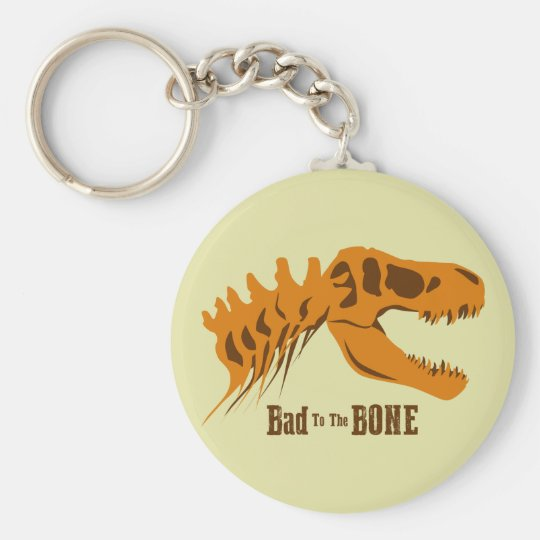 Bad to the Bone Basic Round Button Key Ring
