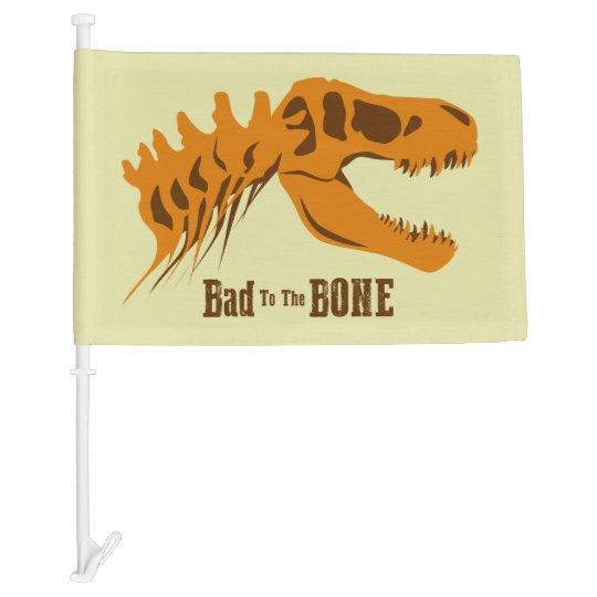 Bad to the Bone Car Flag