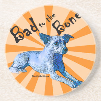 Bad To The Bone Chihuahua Drink Coaster