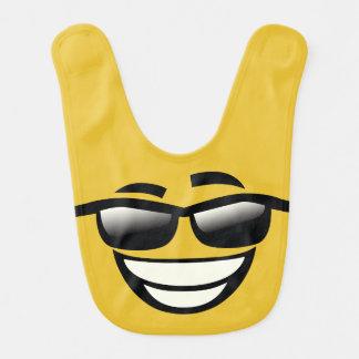 Bad to the Bone cool guy Emoji Bib