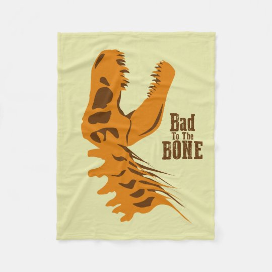 Bad to the Bone Fleece Blanket