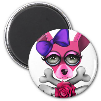Bad To The Bone Girl Magnet