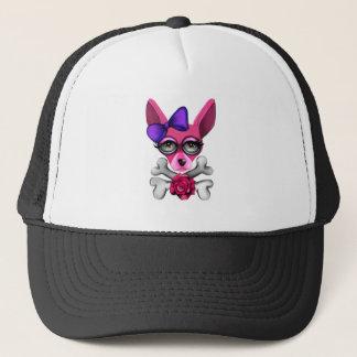 Bad To The Bone Girl Trucker Hat