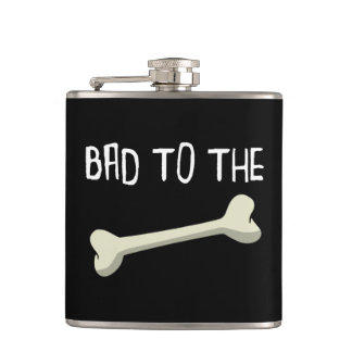 Bad To The Bone Hip Flask
